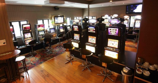 Just your average pokie room in your local pub